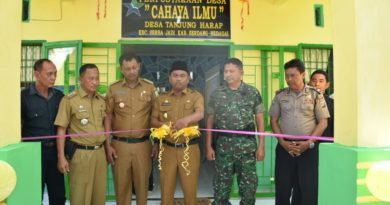 Wabup Sergai Resmikan Perpustakaan dan Pelayanan Terpadu Desa Tanjung Harap