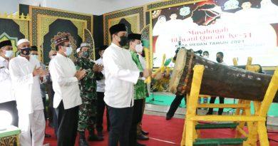Wali Kota Medan Resmi Membuka MTQ ke 54 Tingkat Kota Medan Tahun 2021