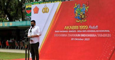 <br>Wali Kota Medan berharap Vaksinasi AKABRI 1999 dapat Bantu Capaian Target Vaksinasi Guna Medan Masuk PPKM Level I